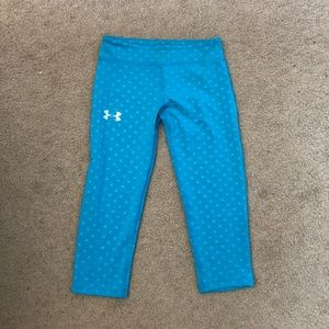 Blue/green Capri leggings